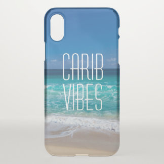 Carib Vibes Tropical Beach Turquoise Water iPhone X Case