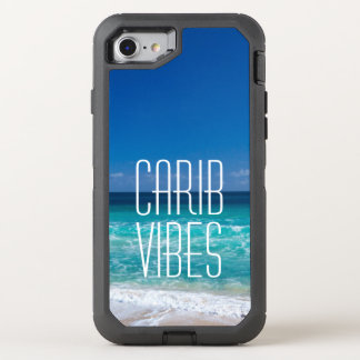 Carib Vibes Tropical Beach Turquoise Water OtterBox Defender iPhone 8/7 Case