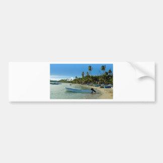 caribbean beach bumper sticker