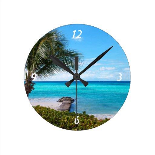 Caribbean Beach Wall Clocks