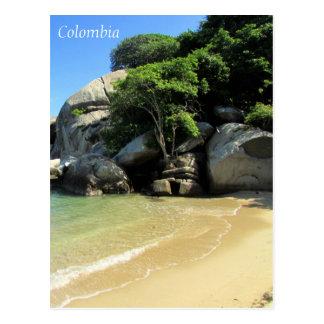 caribbean beach colombia postcard
