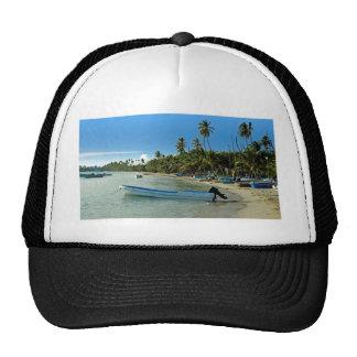 caribbean beach mesh hat