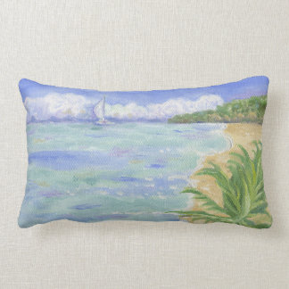 Caribbean Beach large pillow
