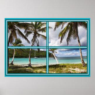 Caribbean Beach Poster