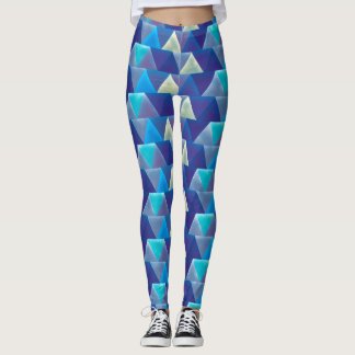 Caribbean Bliss Blue Geometric Leggings