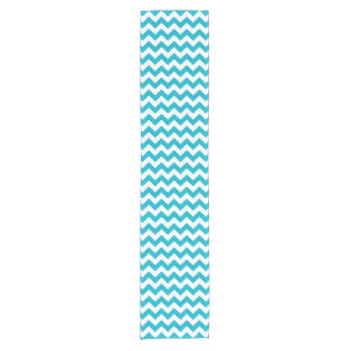 Caribbean Blue Chevron Short Table Runner