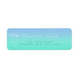 Caribbean Blue Ocean Ombre Dandelion Address