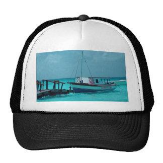 Caribbean boat trucker hat