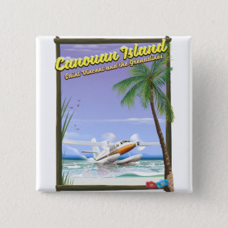 Caribbean, Canouan islands paradise poster. 2 Inch Square Button