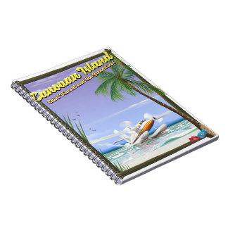 Caribbean, Canouan islands paradise poster. Notebook
