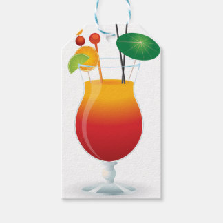 Caribbean Cocktail Gift Tags