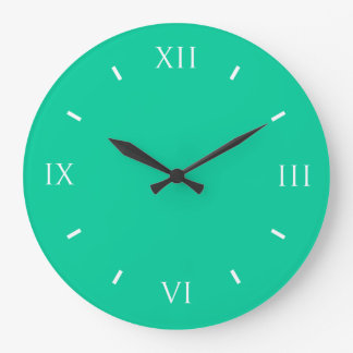 Caribbean Green Durable Color Coordinating Large Clock