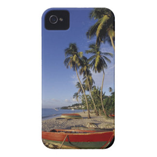 CARIBBEAN, Grenada, St. George, Boats on palm iPhone 4 Case-Mate Case