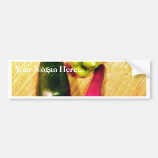 Caribbean Habaneros Serranos Chilies Peppers Car Bumper Sticker