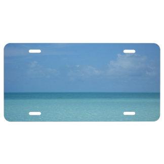Caribbean Horizon Tropical Turquoise Blue License Plate