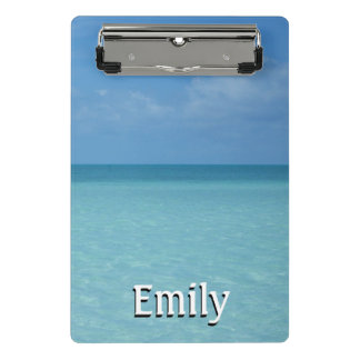 Caribbean Horizon Tropical Turquoise Blue Mini Clipboard