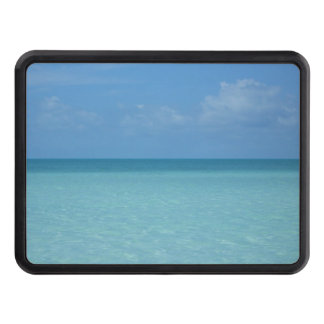 Caribbean Horizon Tropical Turquoise Blue Trailer Hitch Covers