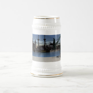 Caribbean Island Beer Stein