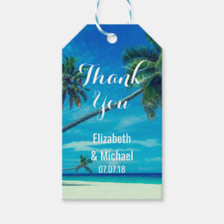 Caribbean Island Tropical Beach Wedding Thanks Gift Tags