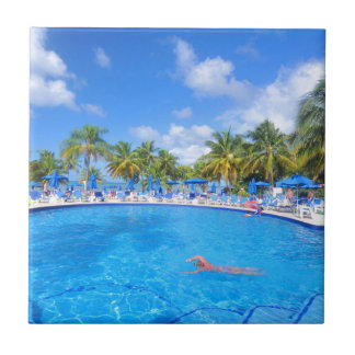 Caribbean islands ceramic tile