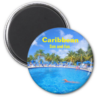 Caribbean islands magnet