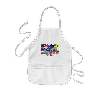 caribbean kids apron