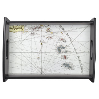 CARIBBEAN: MAP, 1775 SERVING TRAY