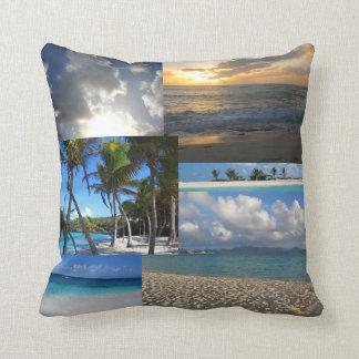 Caribbean medley throw pillow