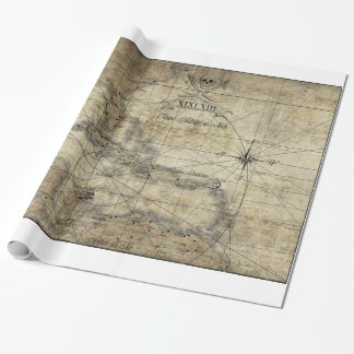 Caribbean - old map wrapping paper