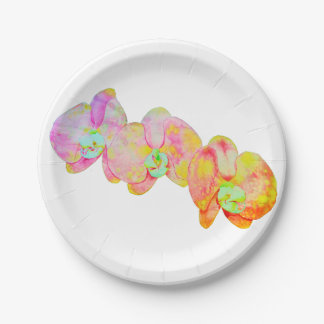 Caribbean Orchids 7 Inch Paper Plate