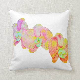 Caribbean Orchids Throw Pillow