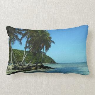 Caribbean Palm Beach Island Lumbar Pillow