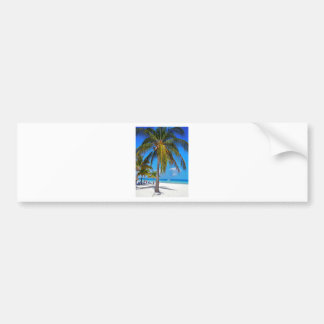Caribbean palm tree bumper stickers