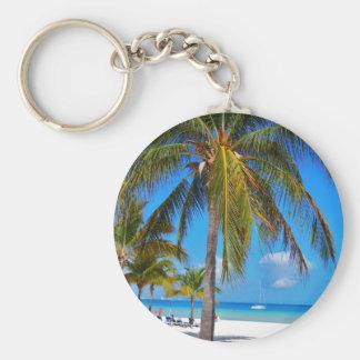 Caribbean palm tree keychain