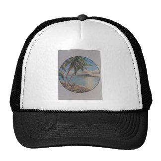 Caribbean Palms Mesh Hat