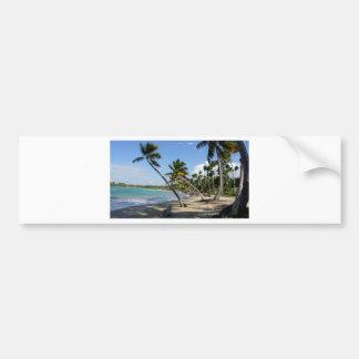 caribbean paradise car bumper sticker