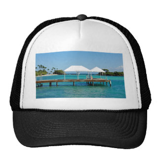 caribbean paradise mesh hat