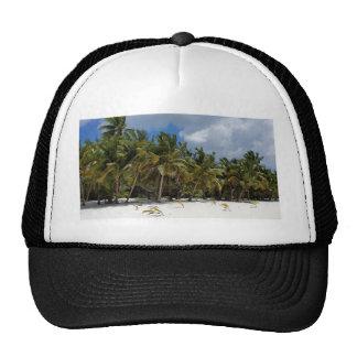 caribbean paradise mesh hats