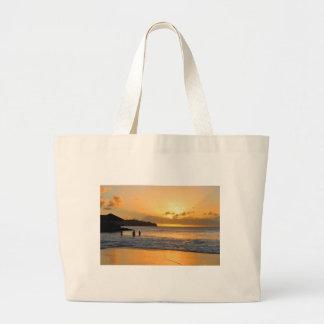 Caribbean paradise large tote bag
