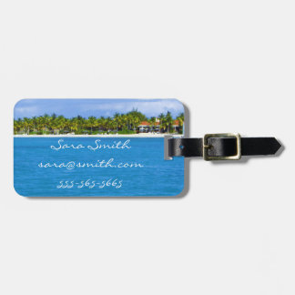 Caribbean Paradise Luggage Tag - Customizable
