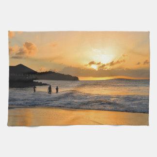 Caribbean paradise towel