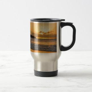 Caribbean paradise travel mug