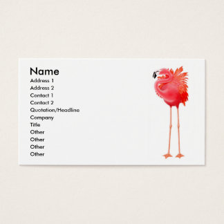Caribbean Pink Flamingo Business Card