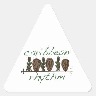Caribbean Rhythm Triangle Sticker