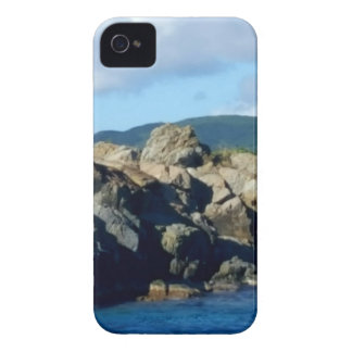 Caribbean Rocky Barrier St. Thomas Landscape iPhone 4 Case-Mate Case