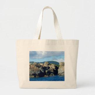 Caribbean Rocky Barrier St. Thomas Landscape Large Tote Bag
