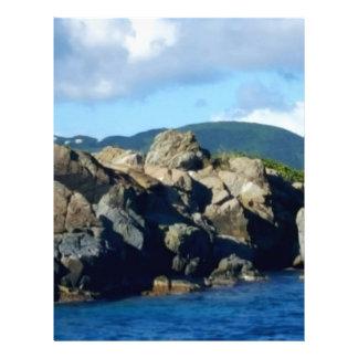 Caribbean Rocky Barrier St. Thomas Landscape Letterhead