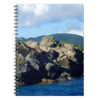 Caribbean Rocky Barrier St. Thomas Landscape Notebooks
