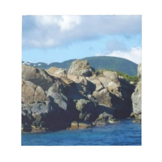 Caribbean Rocky Barrier St. Thomas Landscape Notepad