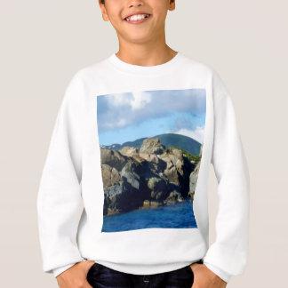 Caribbean Rocky Barrier St. Thomas Landscape Sweatshirt